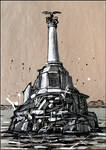 SEVASTOPOL. THE MONUMENT TO THE SCUTTLED SHIPS