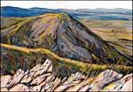 AYAN RAVINE AND TAZ-TAU MOUNTAIN (PLEIN-AIR SKETCH