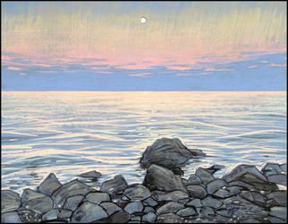 HOW GOOD THOU ART, OH SEA AT NIGHTFALL by Badusev