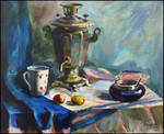 STILL-LIFE WITH A SAMOVAR