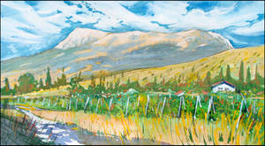 ALUSHTA. VINEYARD. CHATYR-DAG (PLEIN-AIR SKETCH)