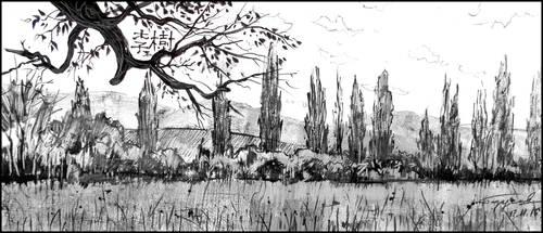 POPLARS IN TCHAIKOVSKOYE by Badusev