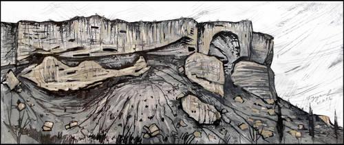 CRIMEAN CAPPADOCIA. KACHI-KALYON by Badusev