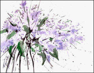 A LILAC BRANCH by Badusev
