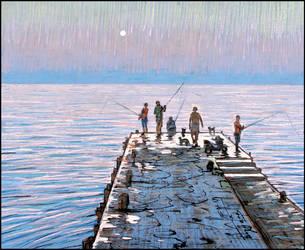 MOONLIGHT FISHING by Badusev