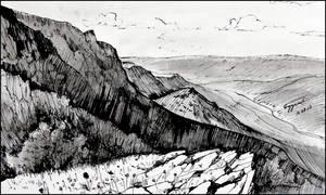 CHATYRDAG AND THE ANGARA VALLEY (PLEIN-AIR SKETCH)