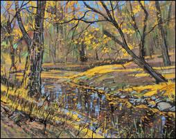OCTOBER GOLD (EN-PLEIN-AIR SKETCH) by Badusev