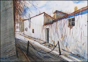 ARMENIAN STREET IN THEODOSIA by Badusev