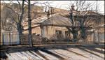 41 VOROVSKY STREET IN SIMFEROPOL (PLEINAIR SKETCH) by Badusev