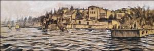 SEVASTOPOL. THE PIER IN APOLLONOVKA by Badusev