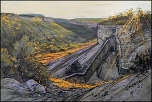 THE SUN-GILDED ROCKS by Badusev