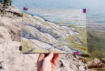 WHITE ROCKS, BLUE WATER (EN-PLEIN-AIR SKETCH) by Badusev
