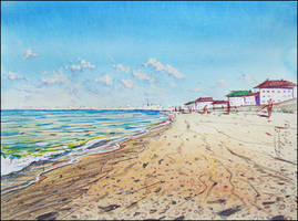 MORNING ON THE BEACH IN PRIBREZHNOYE