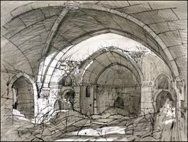 ARMENIAN CHURCH SURB-YEGHIA (EN-PLEIN-AIR SKETCH)