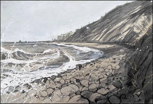 THE SEA IS AGITATED (EN-PLEIN-AIR SKETCH)