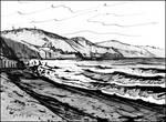 BLACK-AND-WHITE BEACH (EN-PLEIN-AIR SKETCH)