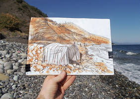 2021.09.17 - drawing MY TENT ON THE WILD BEACH