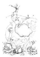 Circus - lineart by TeemuJuhani