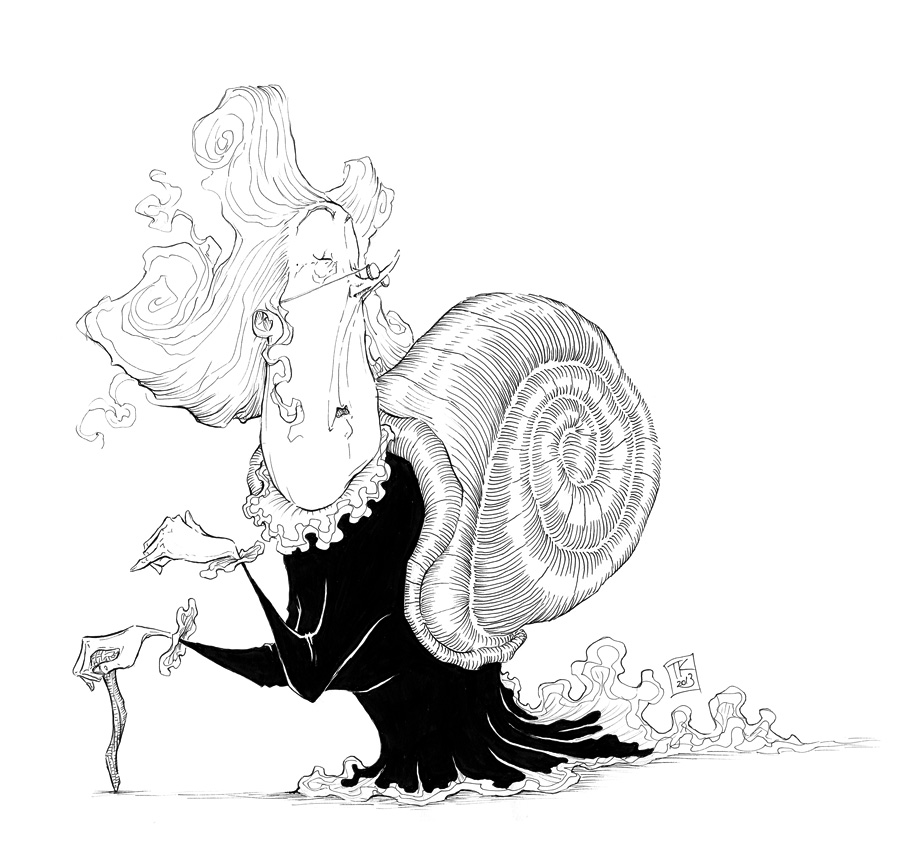 Snail Lady by Ripplen