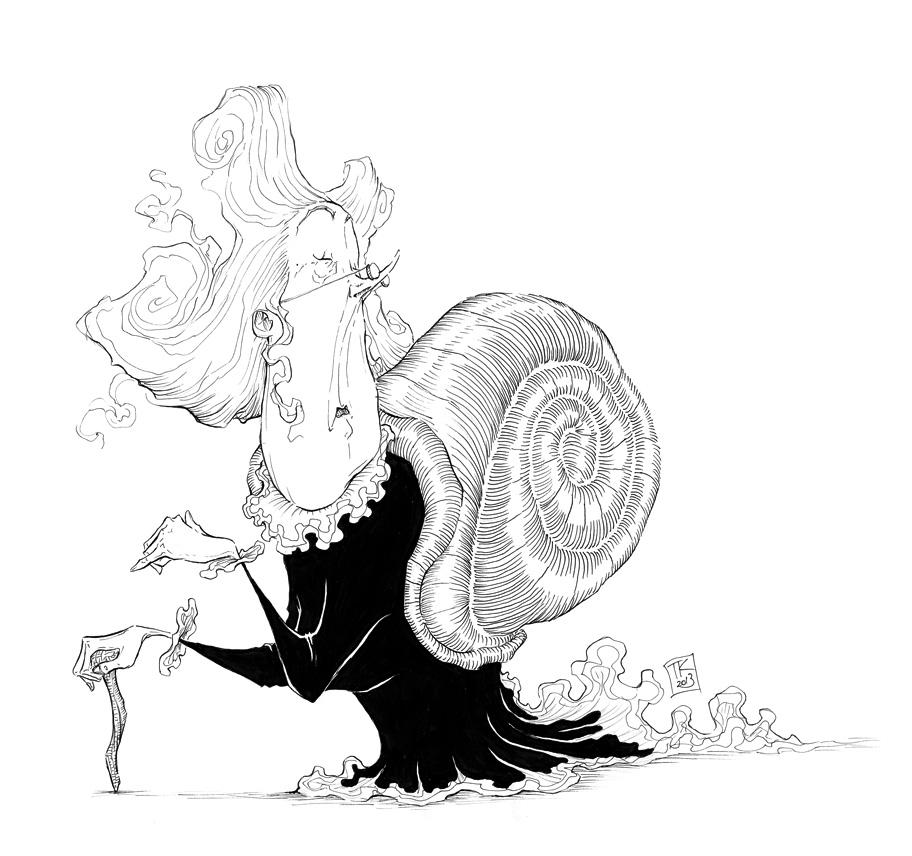 Snail Lady by Ripplen