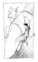 Harry and Mountain Troll by TeemuJuhani