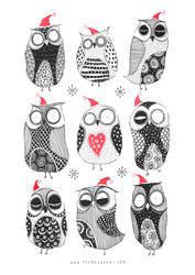 Winter Owls by TeemuJuhani