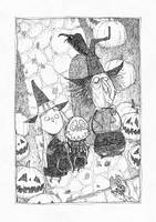 Trick-or-treating (inktober) by TeemuJuhani