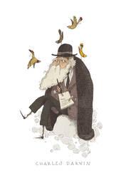 Charles Darwin by TeemuJuhani