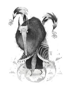 Inktober 08 - Wolf Shaman
