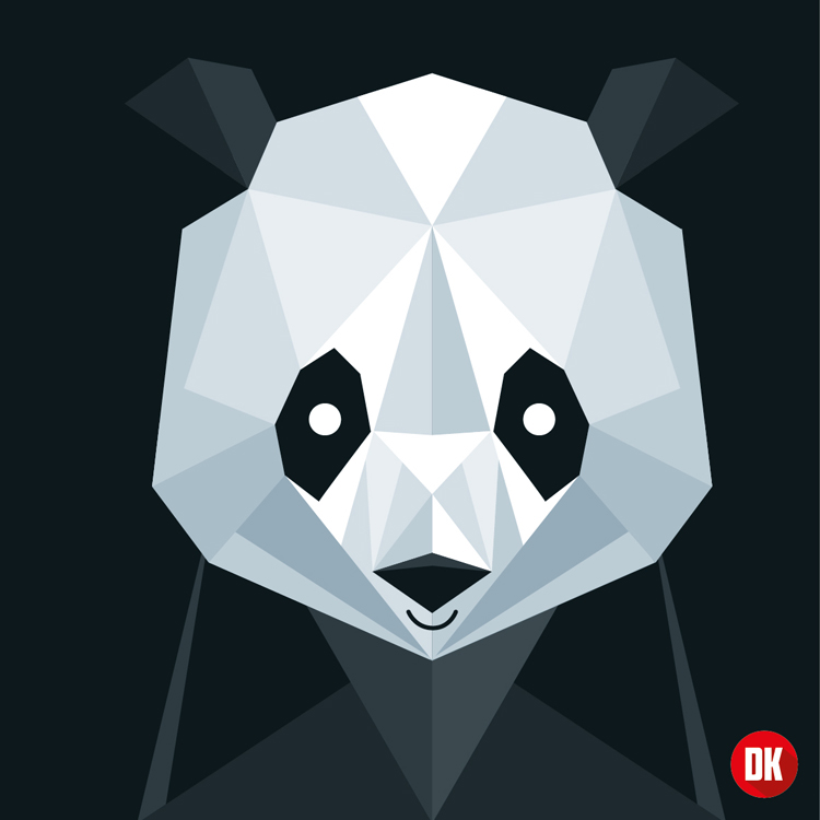 Cute Panda By Dic Art