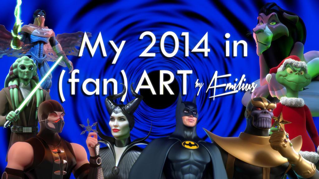 My 2014 in (fan)Art banner by AEmiliusLives
