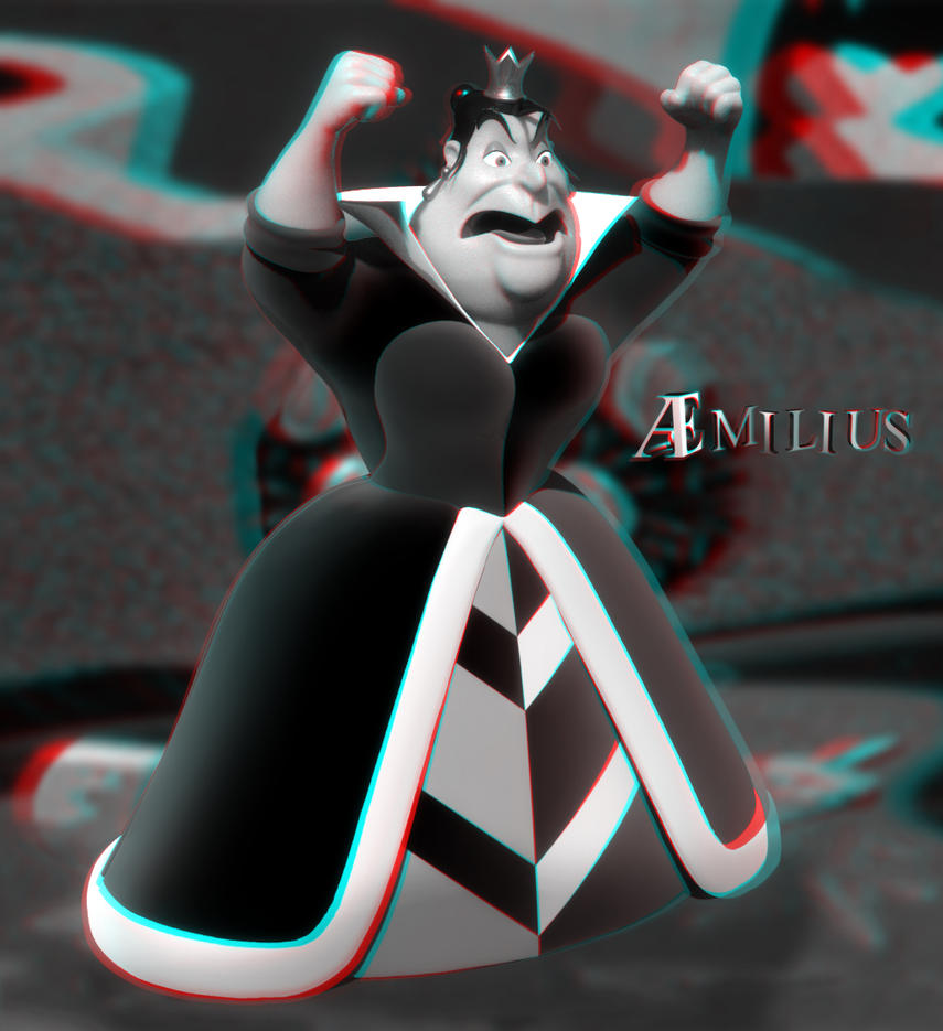 Queen of Hearts (anaglyph) by aemiliuslives