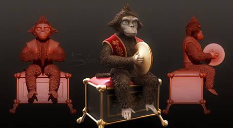 Monkey music box (S.E.D.S. day 11) by AEmiliusLives