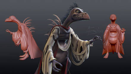 Skeksis (S.E.D.S. day 12) by AEmiliusLives