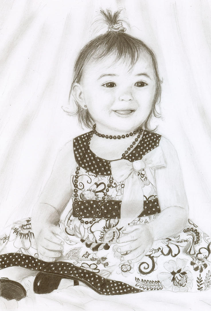 Pencil drawing of a tot by ChristianCowgirl116