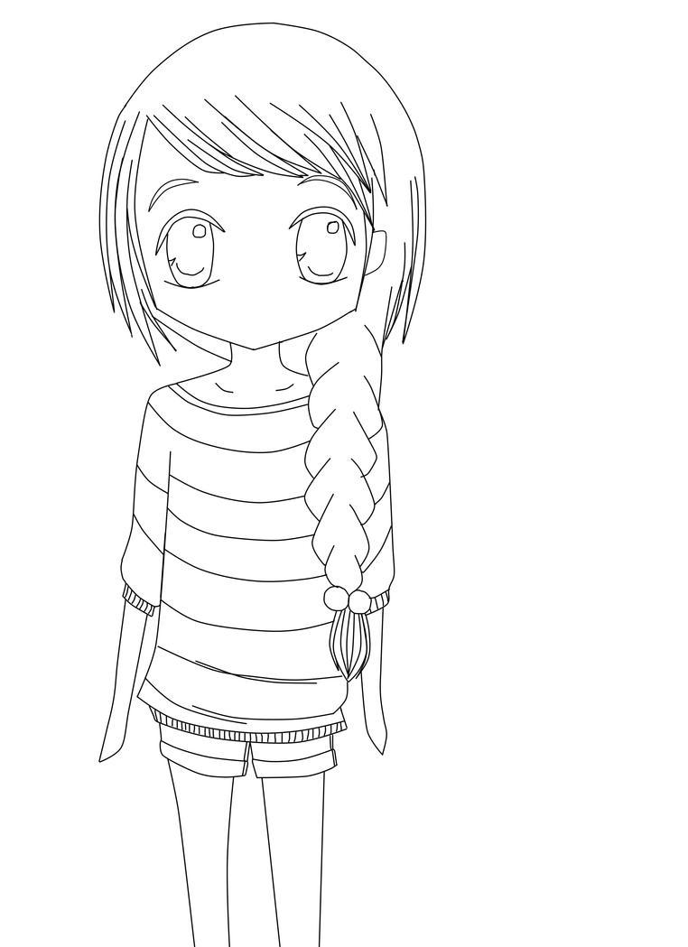 Chibi Sketch Line-art By LinTheMysticCat On DeviantArt