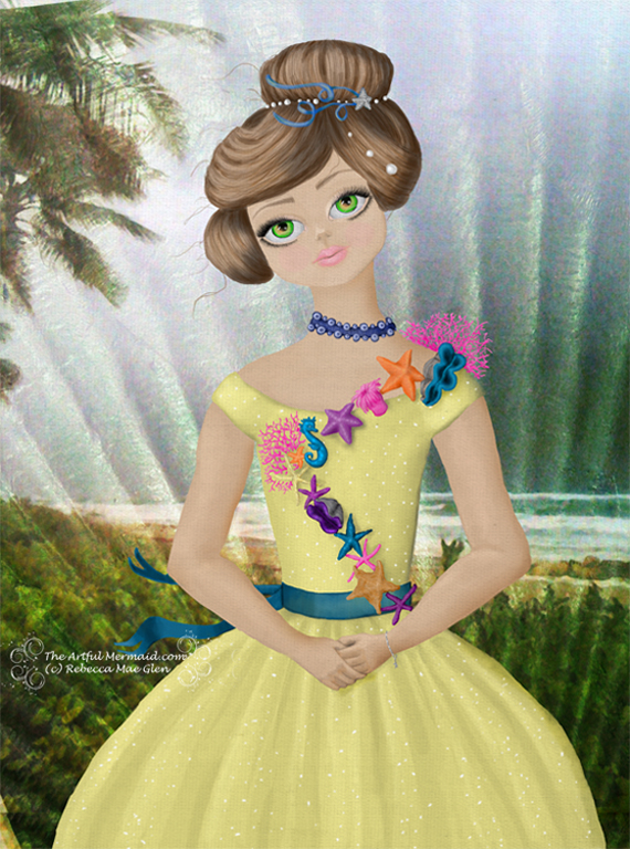 Palm Beach Girl in a Yellow Dress by gollydog