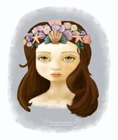 Seaflower Crown Gray Girl by gollydog