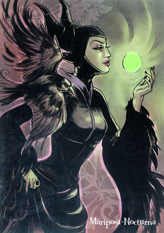 maleficient pin up by mariposa-nocturna