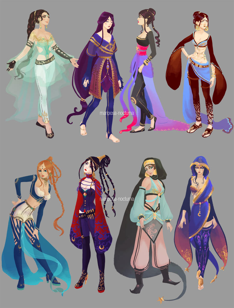 tumblr sketchdump : costume design research by mariposa-nocturna