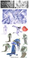 tumblr sketchdump: Rakshasa