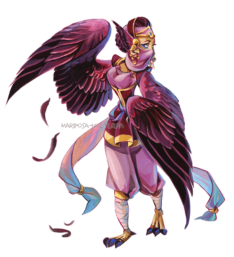 Harpy monster girl 01 by mariposa-nocturna