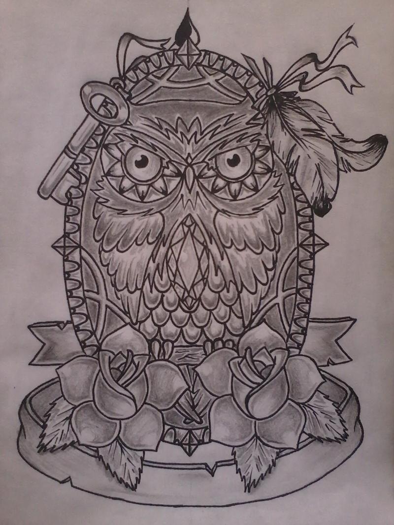 Owl Tattoo Sketches Owl Sketches Tattoo