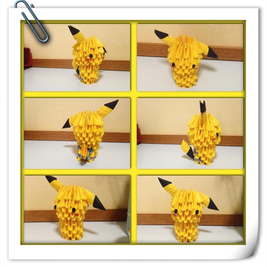 3D Origami Pikachu By Wyxone