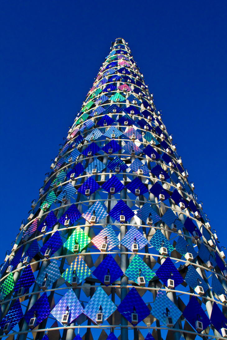 solar tree by peterzen - Solar Powered Christmas Tree