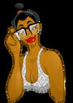 Black girl in Inkscape