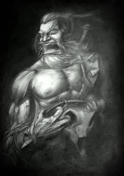Barbarian fury! by FranekBack