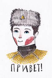 chekov sporting a russian hat by a-l-i-c-e-r-o-s-e