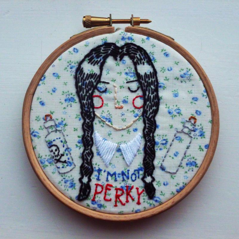 wednesday embroidery by a-l-i-c-e-r-o-s-e