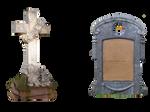 2 Headstones PNG